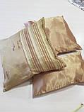 Комплект подушек  стелла с полоской золото 3шт, фото 2