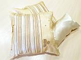 Комплект подушек  стелла с полоской молочная 3шт, фото 3