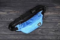 Мужская поясная сумка, бананка ТОП-качества Nike Air (голубой)