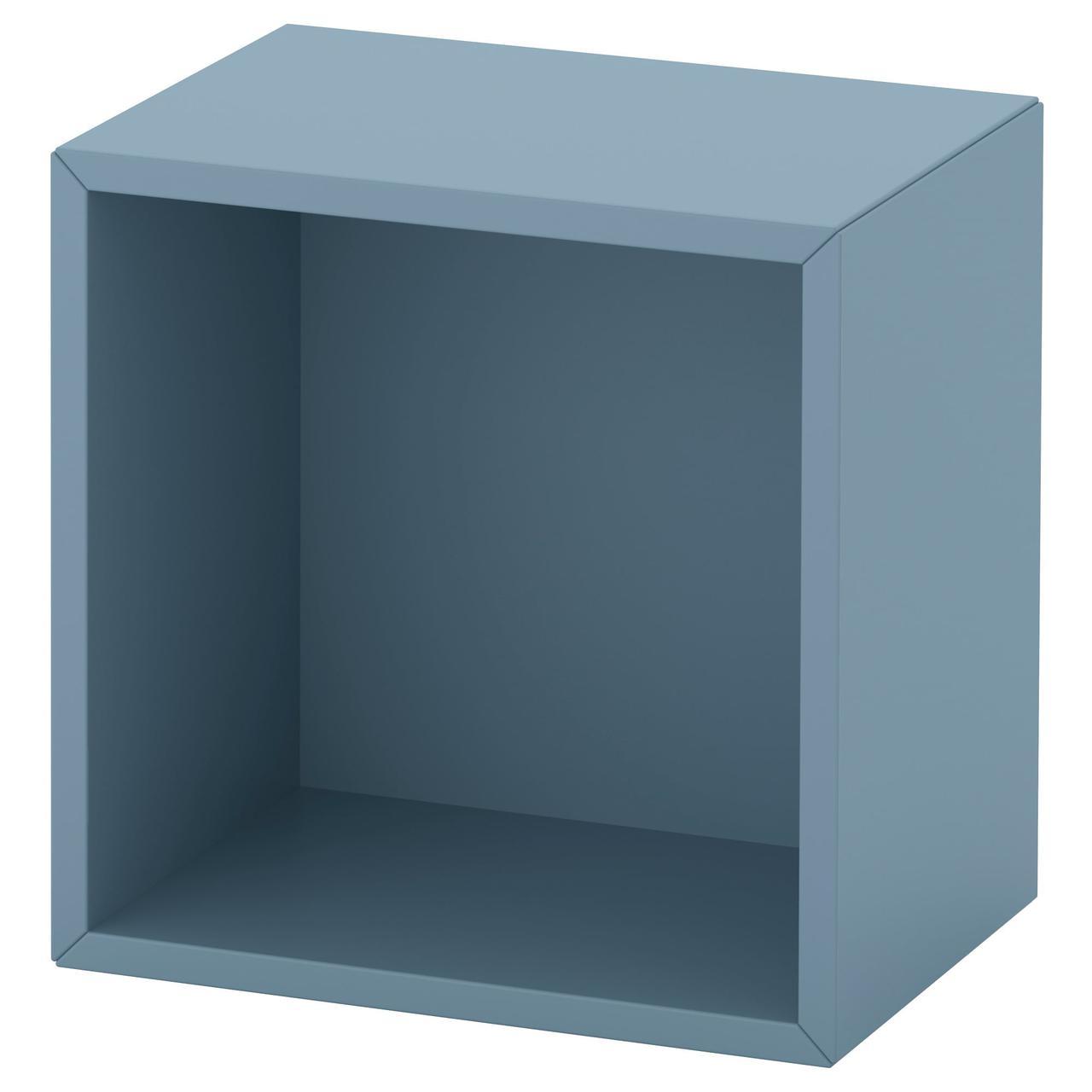 Полка настенная IKEA EKET 35x25x35 см голубая 392.858.51