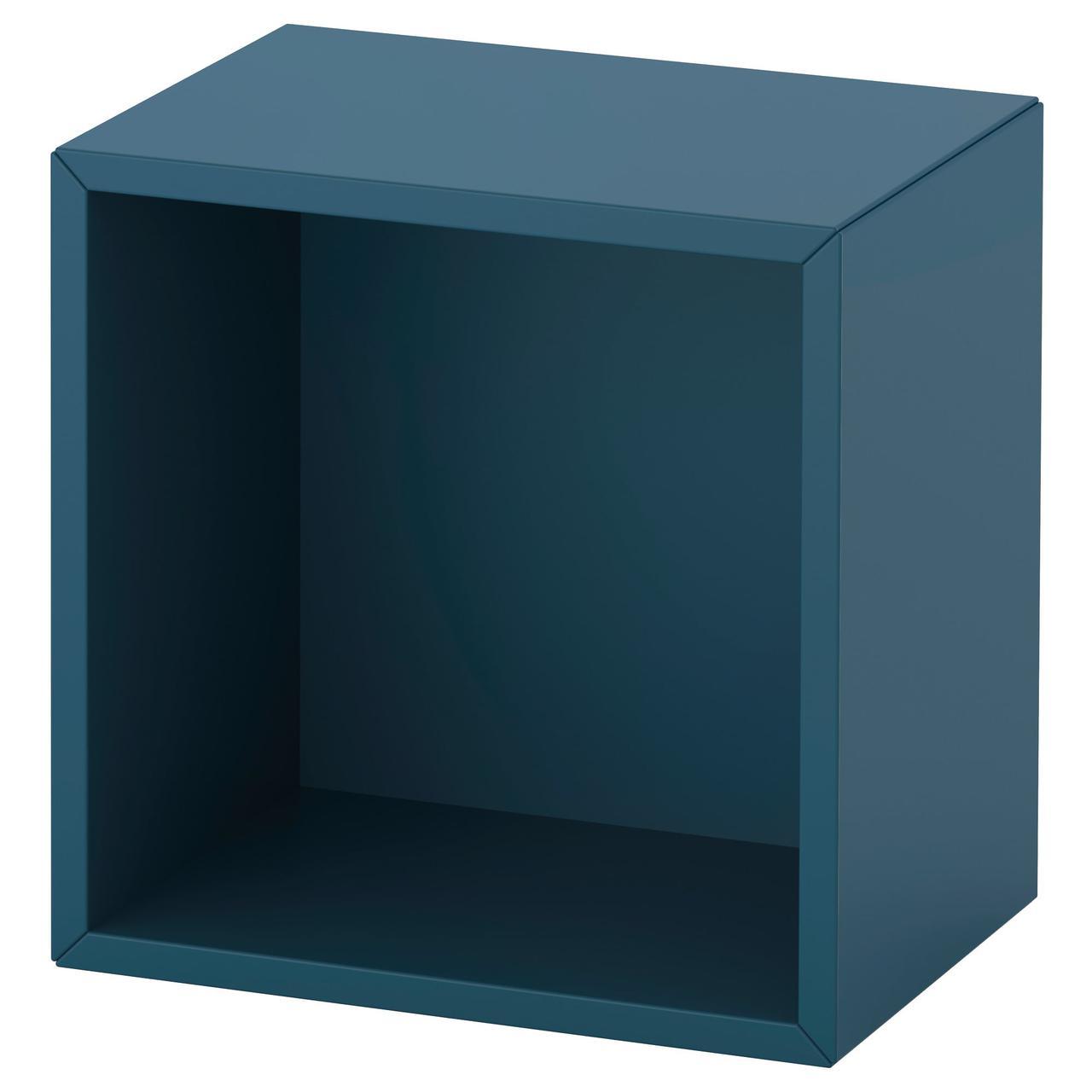 Полка настенная IKEA EKET 35x25x35 см темно-синяя 992.858.48