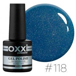 Гель-лак Oxxi Professional №118 синий ,с мелкими бирюзовыми блестками, 10 мл