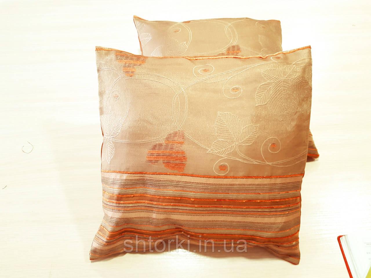 Комплект подушек  Стелла с полоской оранж 2шт