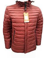 Демисезонная мужская куртка Malidinu модель 18957 терракотовая на синтепоне фирмы Малидину