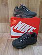 Мужские Кроссовки в стиле Nike Air Max 95 синие нубук, фото 4