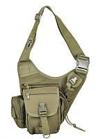 Тактическая наплечная сумка-кобура для оружия и документов цвет олива Max Fuchs Германия