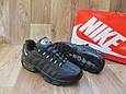 Мужские Кроссовки в стиле Nike Air Max 95 черные кожаные, фото 3