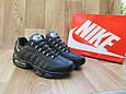 Мужские Кроссовки в стиле Nike Air Max 95 черные кожаные, фото 4
