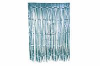 Занавес из фольги для оформления 1x2 м голубой
