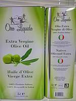 Оливковое масло Oro Liquido Extra Vergine di Oliva (Италия) в канистре 5л