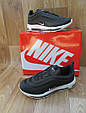 Мужские Кроссовкив стиле  Nike Air Max 97 черные с белым кожа и сетка, фото 3