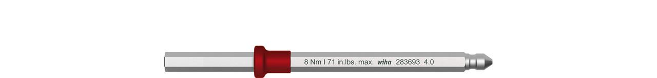 Змінне жало Torque із шестигранником SW 2,5 x 75 мм; Klinge keyTorque/ 3,8 Nm max