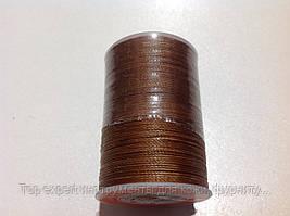 Нитка вощёная (круглый шнур), т. 0,45 мм, 148 м, цв. св.КОРИЧНЕВЫЙ