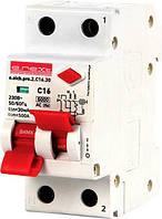 Выключатель дифференциального тока(дифавтомат) e.elcb.pro.2.C16.30. 2p,16А,C.30mA  с раздельной рукояткой.