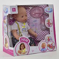 Пупс функциональный Мальчик Warm Baby, 9 функций, открывает и закрывает глазки, аксессуары, в коробке