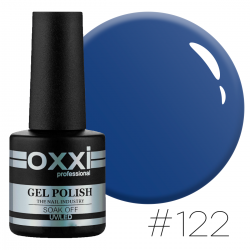 Гель-лак Oxxi Professional №122 синий, 10 мл