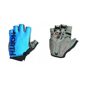 Велоперчатки NorthWave Blaze L hort gloves синий / черный / серый (С8916207927)