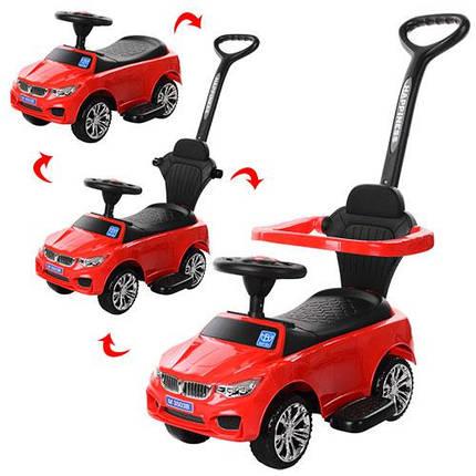 Толокар  BMW Bambi (3503B-3) Красный, звук, свет фар, родительская ручка, фото 2