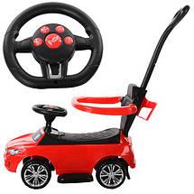 Толокар  BMW Bambi (3503B-3) Красный, звук, свет фар, родительская ручка, фото 3