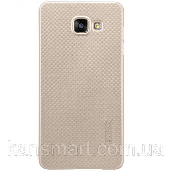 Чехол Nillkin Samsung A7/A710 - Super Frosted Shield Gold + защитная пленка + салфетка из микрофибры