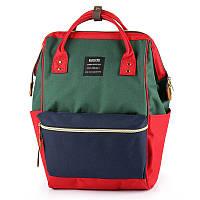 Сумка - рюкзак для мамы Красно - зеленый ViViSECRET, фото 1