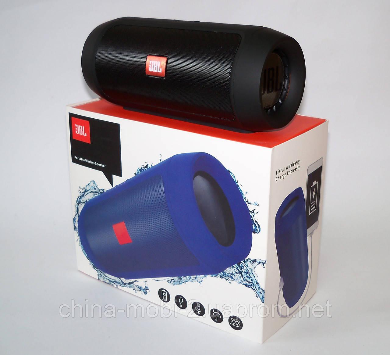 JBL Charge 2+ E2+ 10W копия, блютуз колонка c FM и MP3, черная