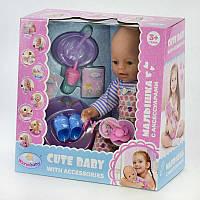 Пупс Warm Baby функциональный, с аксессуарами, в коробке, пьет, писает