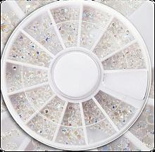Стразы Пикси Crystal Pixie в каруселе, хамелеон (+- 700 шт)