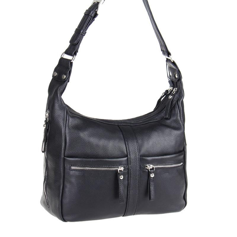 7942ee29a953 Сумка Vera Pelle 1270-5-269 черная женская, цена 2 565 грн., купить ...