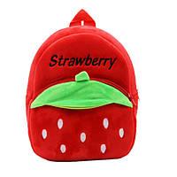 Рюкзак велюровый Клубника, красный Berni, фото 1