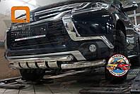 Защита переднего бампера (Кенгурятник) на Mitsubishi Pajero Sport (2015-) (Shark)