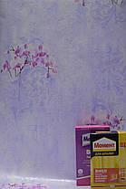 Обои на стену,  бумажные, орхидея, фиолетовый, В 27,4  Элеонора 8130-03, 0,53*10м, фото 2
