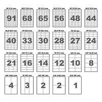 Этикетки в листах A4 для печати штрих кодов
