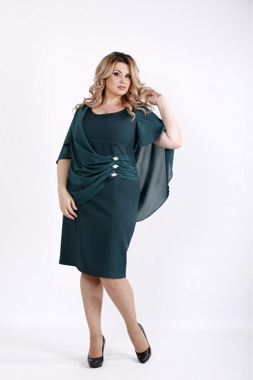 Женское оригинальное платье модного зеленого цвета 0912 / размер 42-74 / большие размеры