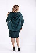 Женское оригинальное платье модного зеленого цвета 0912 / размер 42-74 / большие размеры , фото 3