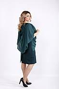 Женское оригинальное платье модного зеленого цвета 0912 / размер 42-74 / большие размеры , фото 2