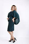 Женское оригинальное платье модного зеленого цвета 0912 / размер 42-74 / большие размеры , фото 4