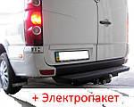 Фаркоп - Volkswagen Crafter Микроавтобус (2006--) L=3660/4370 бампер из подножкой