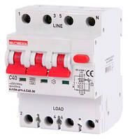 Выключатель дифференциального тока с защитой от сверхтоков e.rcbo.pro.4.C40.30. 3p+N,40А,C.типА.30mA