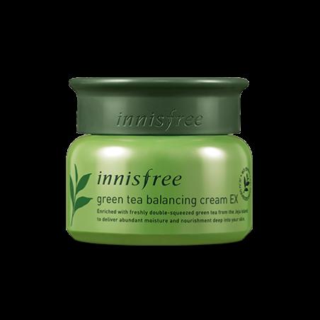 Увлажняющий крем для лица Innisfree Green Tea Balancing Cream EX