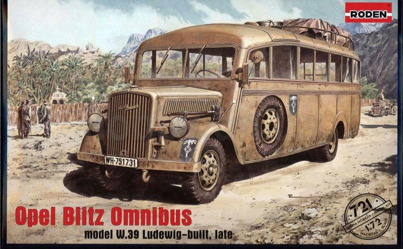 OPEL BLITZ OMNIBUS (MODEL W. 39 LUDEWIG-BUILT, LATE). 1/72 RODEN 721