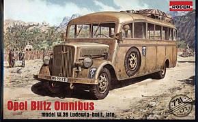 OPEL BLITZ OMNIBUS (MODEL W. 39 LUDEWIG-BUILT, LATE). 1/72 RODEN 721, фото 2