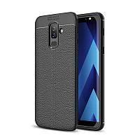 Чехол Samsung J810 / J8 2018 силикон Original Auto Focus Soft Touch черный