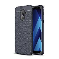 Чехол Samsung J810 / J8 2018 силикон Original Auto Focus Soft Touch темно-синий
