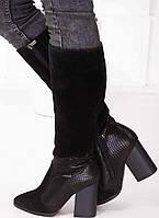 Женские замшевые сапоги с заостренным носком  Возможен отши в вдругих цвета кожи и замши , фото 1