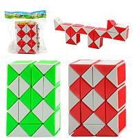 Головоломка гра змійка, 4 кольори, в кульку, 9,5-6,5-2,5 см