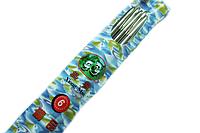 Спицы носочные металлические 25см Panda Xiong Mao/5шт:№6 (4.5мм)