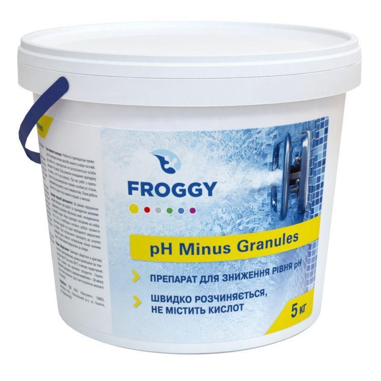PH минус в гранулах 5 кг.  Froggy. Средство для понижения pH в бассейне