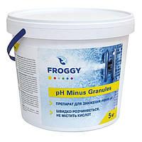 PH минус в гранулах 5 кг.  Froggy. Средство для понижения pH в бассейне, фото 1