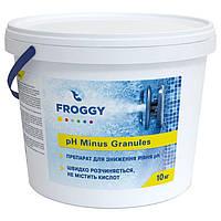 pH минус в гранулах Froggy 10 кг. Средство для понижения пш воды бассейна Фрогги pH minus, фото 1